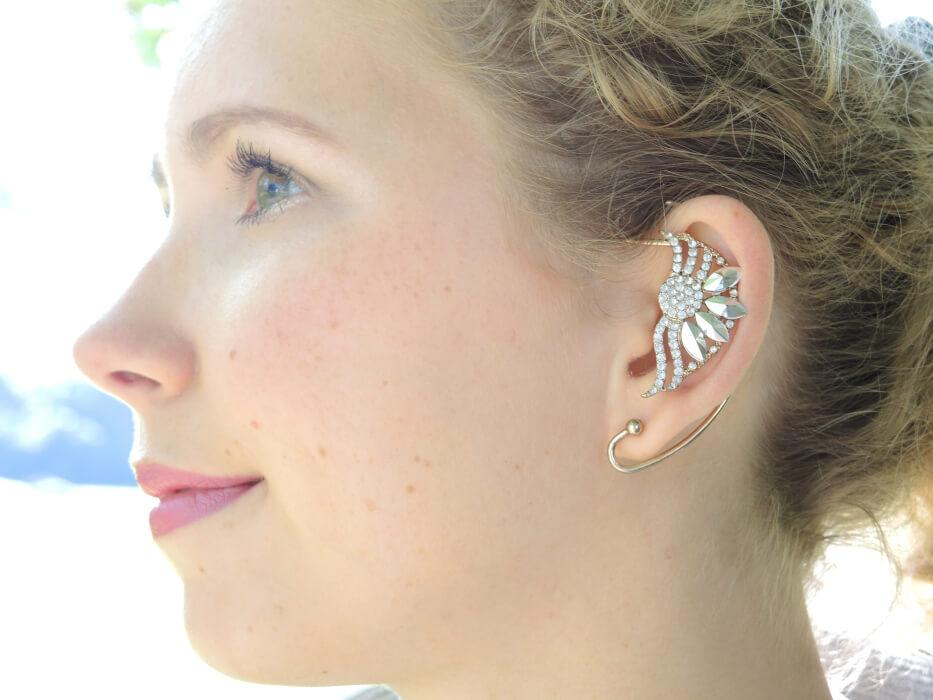 Closeup earcuff earring jewellery portrait face fashion