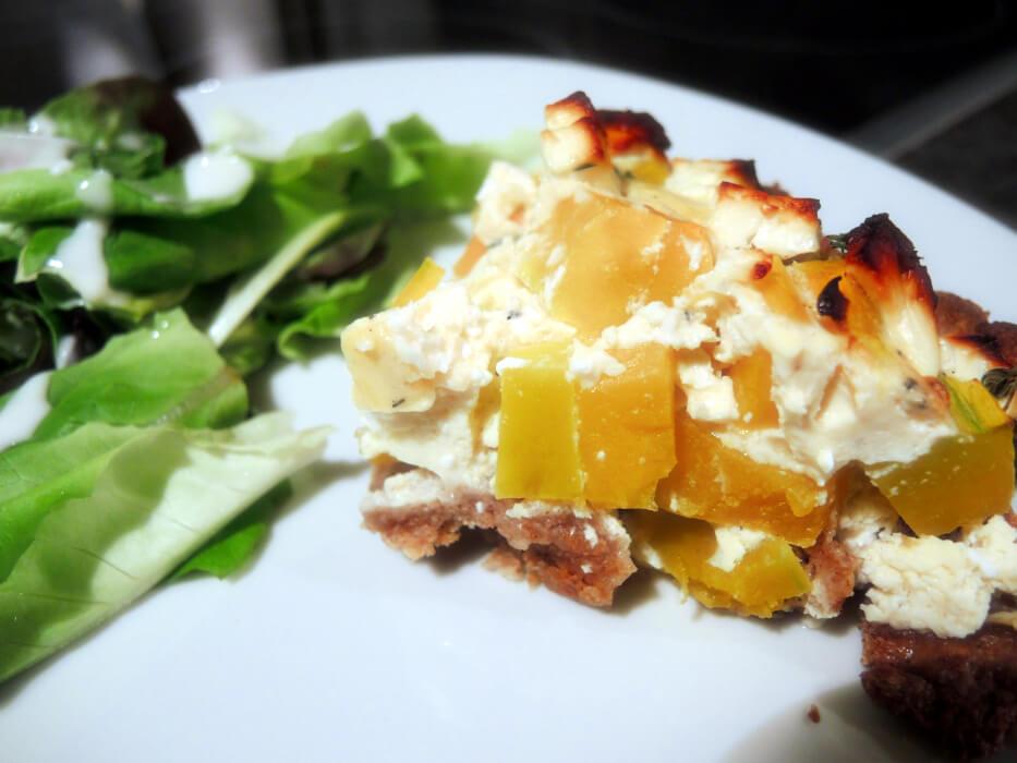 Pumpkin Feta Cheese Thyme Tarte Kürbis Herbst Gericht Rezept Recipe Autumn Fall Foodblog