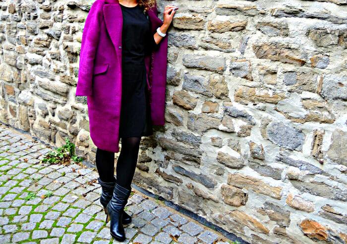 H&M Mantel Coat Purple Fashionblog Streetstyle Ana Alcazar
