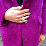 H&M Mantel Coat Purple Fashionblog Streetstyle