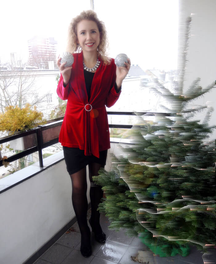 Outfit Christmas Eve Red Velvet Heiligabend Weihnachten Xmas Look Lookbook Fashionblog Modeblog