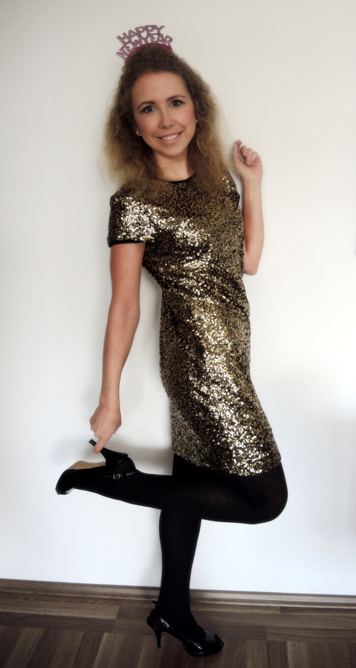 Outfit New Year's Eve NYE Silvester 2014 Fashionblog Style Look OOTN Kationette