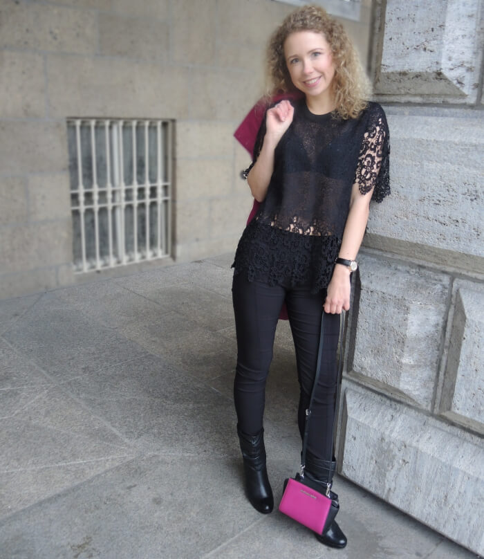 Outfit: Sale Michael Kors Selma and Black Lace Zara, Fashionblog, Kationette, Streetstyle