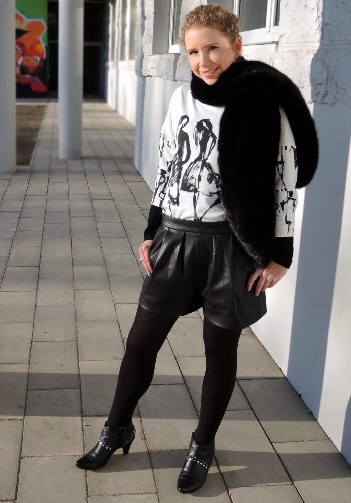Outfit: Bargain Buy - Zara Fashion Shirt, Fashionblog, Kationette, Streetstyle