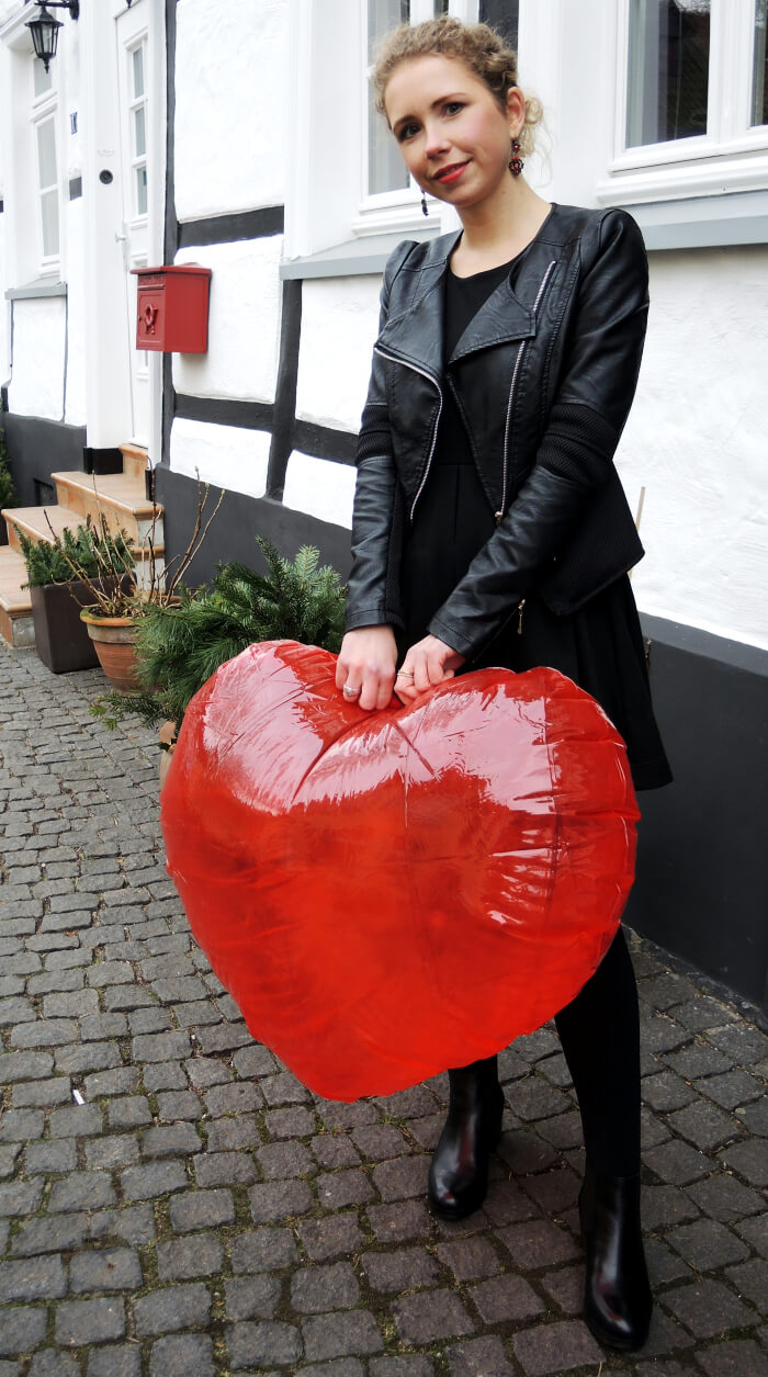 Outfit: Happy Valentine, Valentinstag, Fashionblog, Kationette, Streetstyle, Look