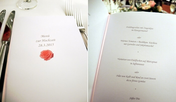Lifestyle: My best friend's Wedding, Hochzeit, Heirat, Marriage, Trauzeugin, Maid of honor, Blog, Fashionblog, Kationette, Menü