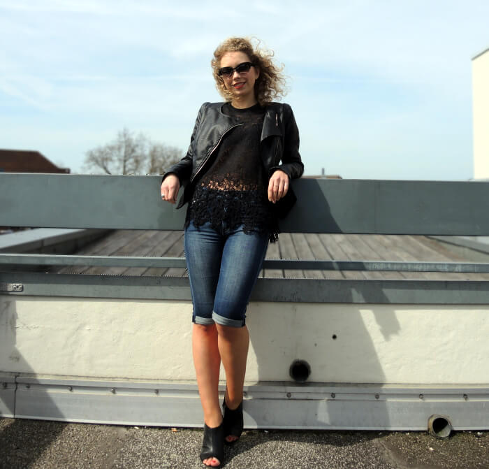 Outfit: Black Leather and Lace, Kationette, Fashionblog, Look, Streetstyle, Modeblog