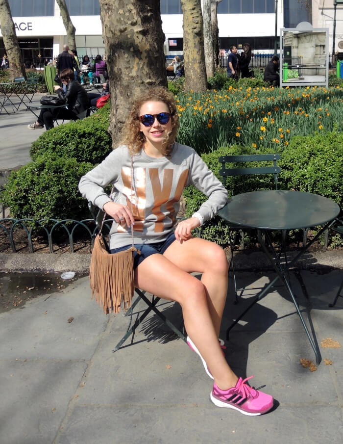NYC Outfit 1: Touri Look in Bryant Park, Kationette, Fashionblog, New York, Modeblog, Travelblog