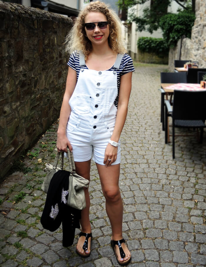 Outfit: Dungarees, Birkenstock and new Sunnies, Kationette, Fashionblog, Modeblog, Streetstyle, Look