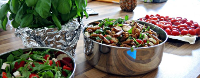 Summery Party Recipes: Mediterranean Noodle Salad, Watermelon Salad and Strawberry Tarte, Kationette, Foodblog, Rezept, Fashionblog