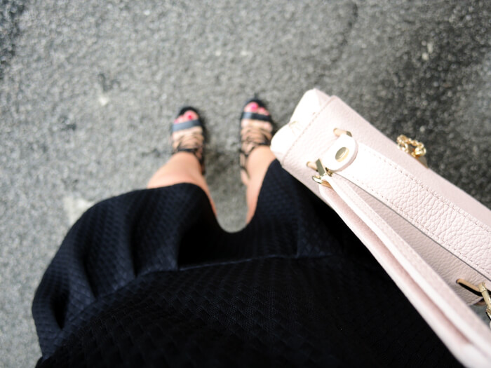 Outfit: Little Black Dress, Chloé Drew Bag Lookalike and Lace Up Heels, Kationette, Fashionblog, Modeblog, Style, Look