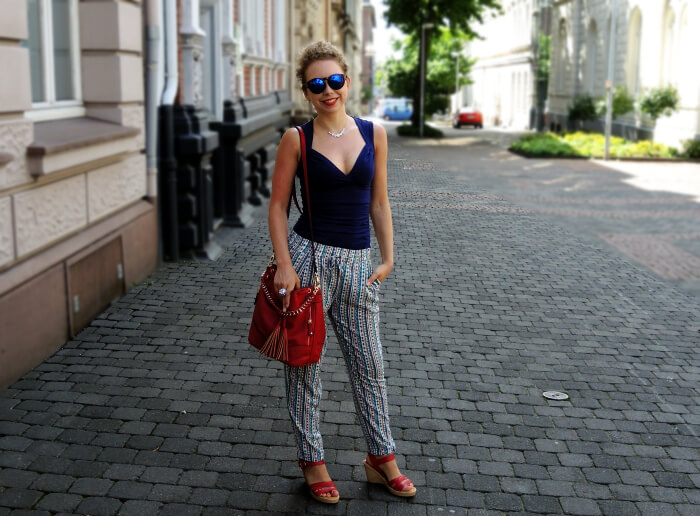 "Outfit: Zara ""Pajama Pants"" and some red Highlights, Kationette, Fashionblog, Style, Streetstyle, Look"