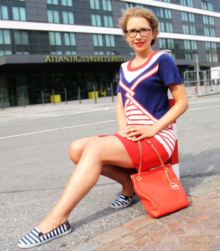Outfit: Maritime Knit Dress, Fashionblog, Kationette, Style, Streetstyle, Look