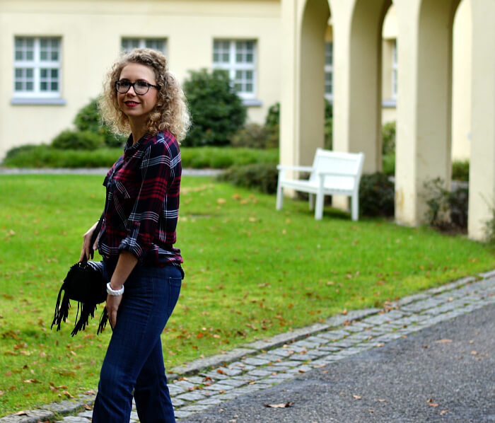 Outfit: Lumberjack shirt and flared jeans, Kationette, Fashionblog, Modeblog, Style, Streetstyle
