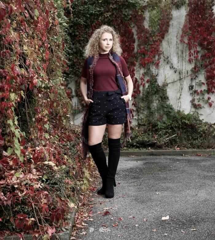 Outfit: Shorts and Overknees for an outdoor shooting with Picture People, kationette, style, streetstyle, fashionblogac