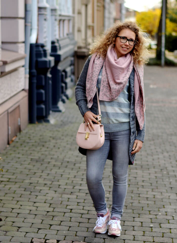Outfit: Winter Pastels - Grey and Pale Pink, Kationette, Fashionblog, Streetstyle, Style, Modeblog