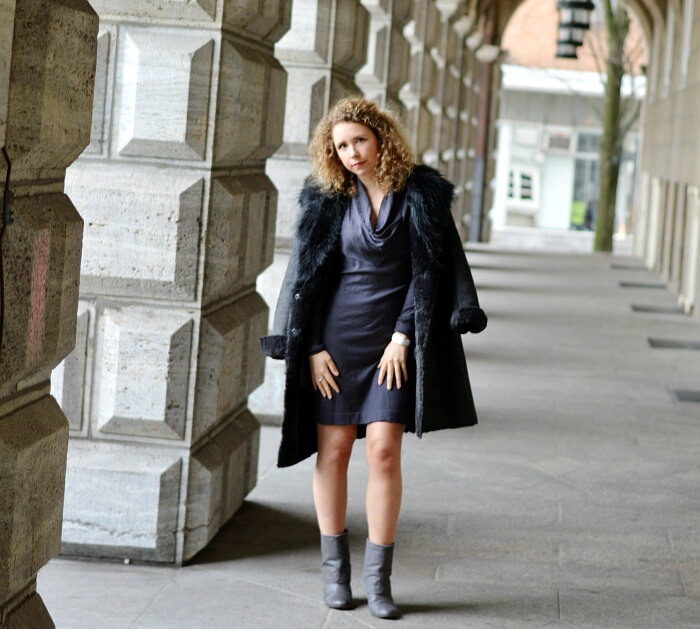 Outfit: All grey with new fake lambskin coat, Kationette, Streetstyle, Fashionblog, Modeblog