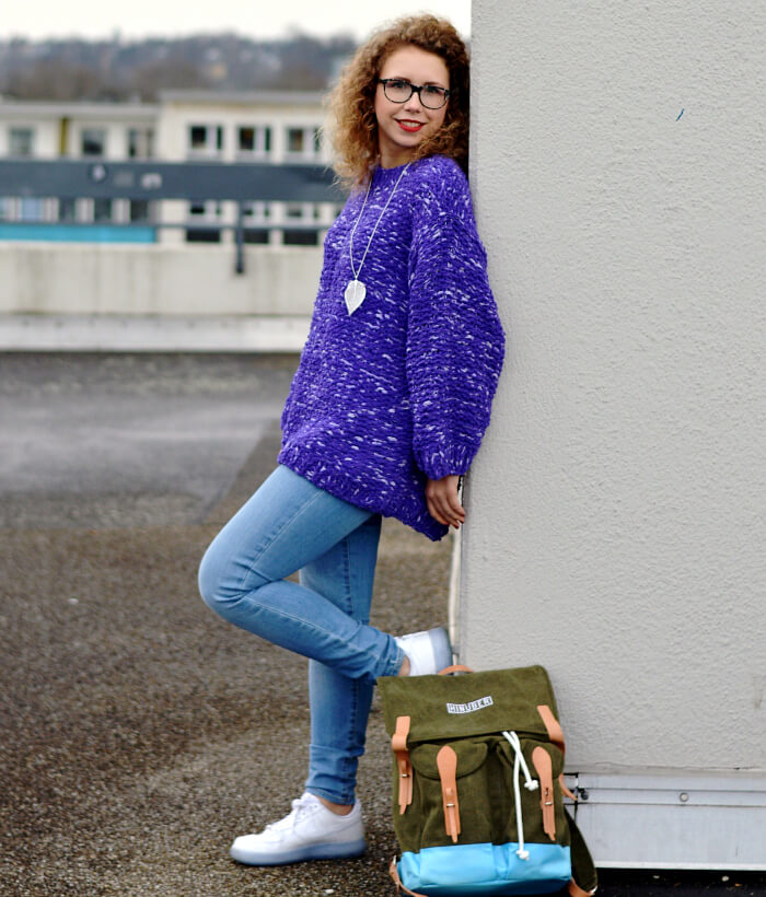 Outfit: XXL Knit and New Hinüber Backpack, Kationette, Fashionblog, Modeblog, Rucksack, Streetstyle, Streetfashion