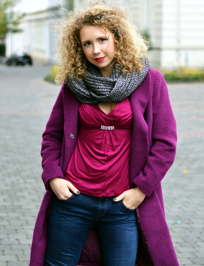 Outfit: Casual Purple Winter Style , Kationette, Fashionblog, Modeblog, Streetstyle