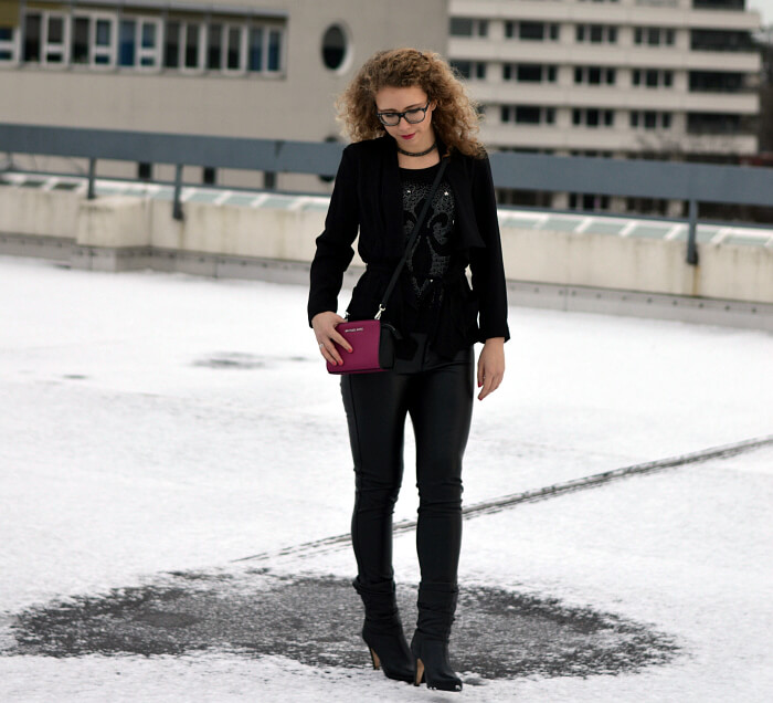 Outfit: Allblack in the snow, Kationette, fashionblog, modeblog, streetstyle