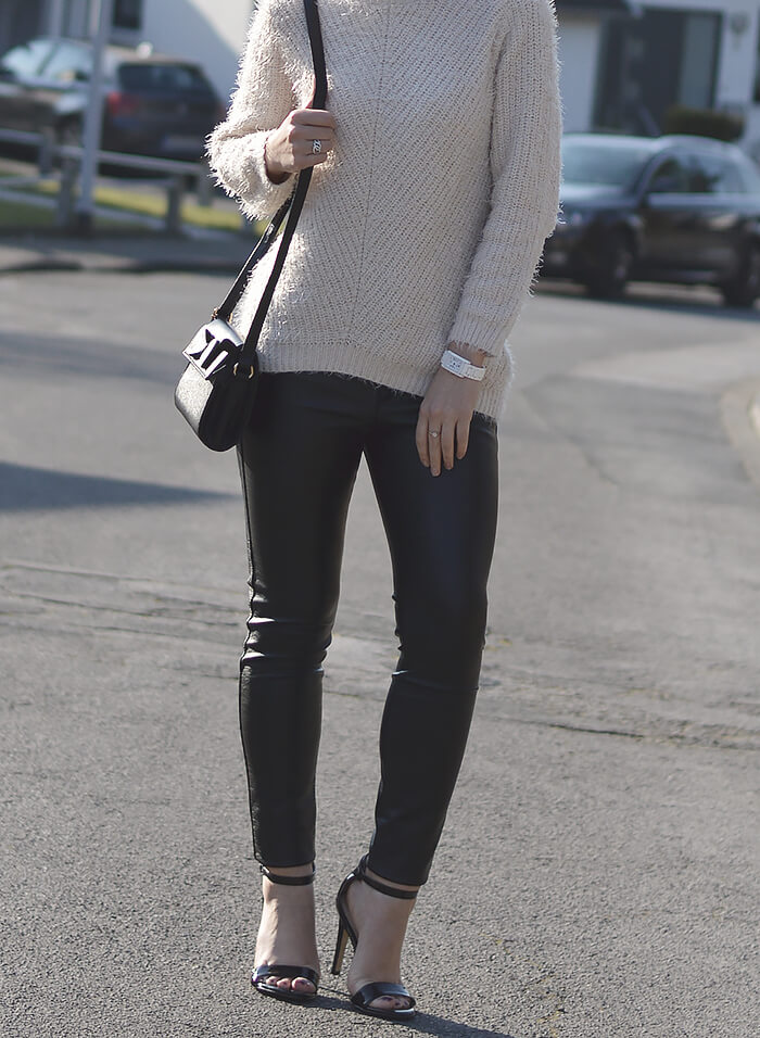 Outfit: Leather and Knit, Kationette, Fashionblog, Modeblog, Streetstyle, lotd, ootd