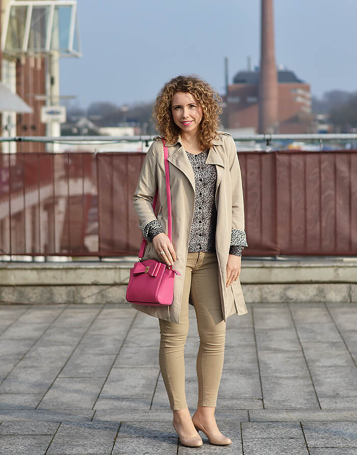Outfit: All beige, leo print and a touch of pink, kationette, Fashionblog, streetstyle, look