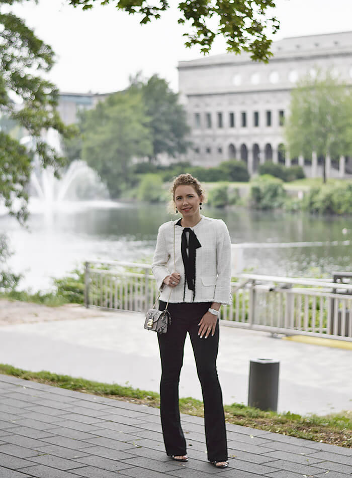 Outfit: The Little White Jacket - Chanel Lookalike from Zara