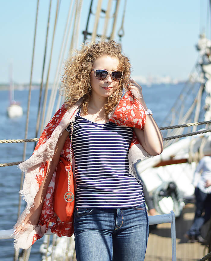 Outfit: Sailing to Warnemünde with Luxury Fraas Scarf