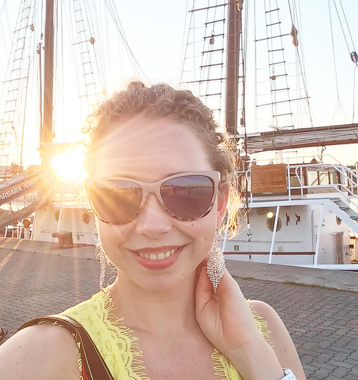 Travel: Dinner Event at Kationette-Travelblog-Radisson-Blu-Rostock-sunset-city-harbor-romance-selfie