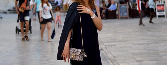 Kationette-Fashionblog-Outfit-Blue-Silk-Dress-Furla-Metropolis-Dubrovnik-old-town