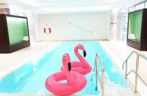 Radisson Blu Scandinavia Hotel Düsseldorf Cockrailparty neuer Spa, Wellness und Fitness Bereich