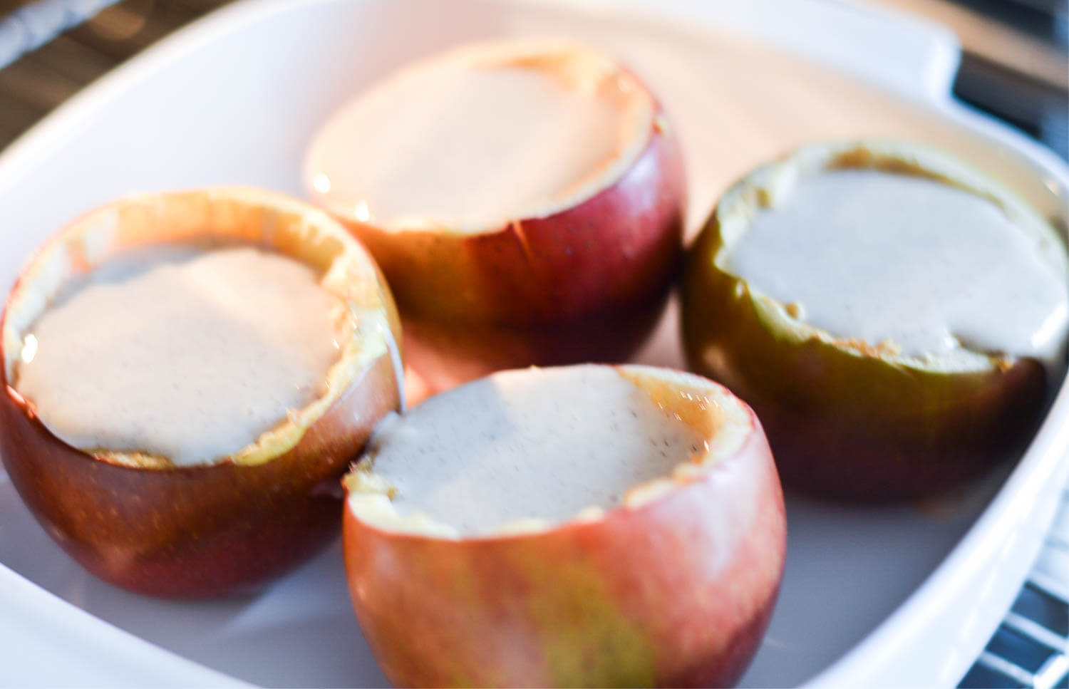 Winter Recipe: Baked Apples with Cheesecake Filling