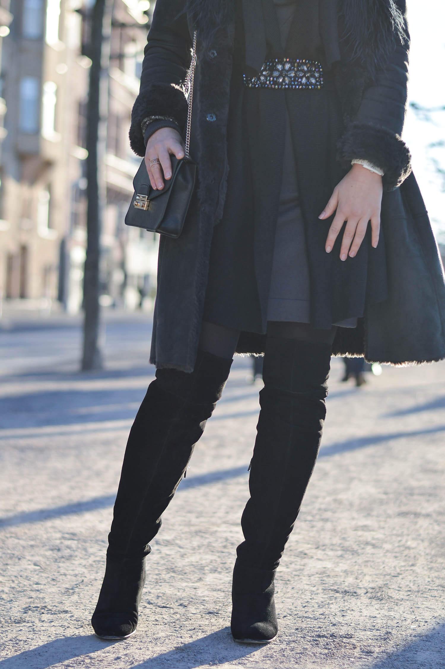 Kationette-fashionblog-Outfit-Shadesofgrey-Shearling-Knit-Overknees-Dusseldorf-furla