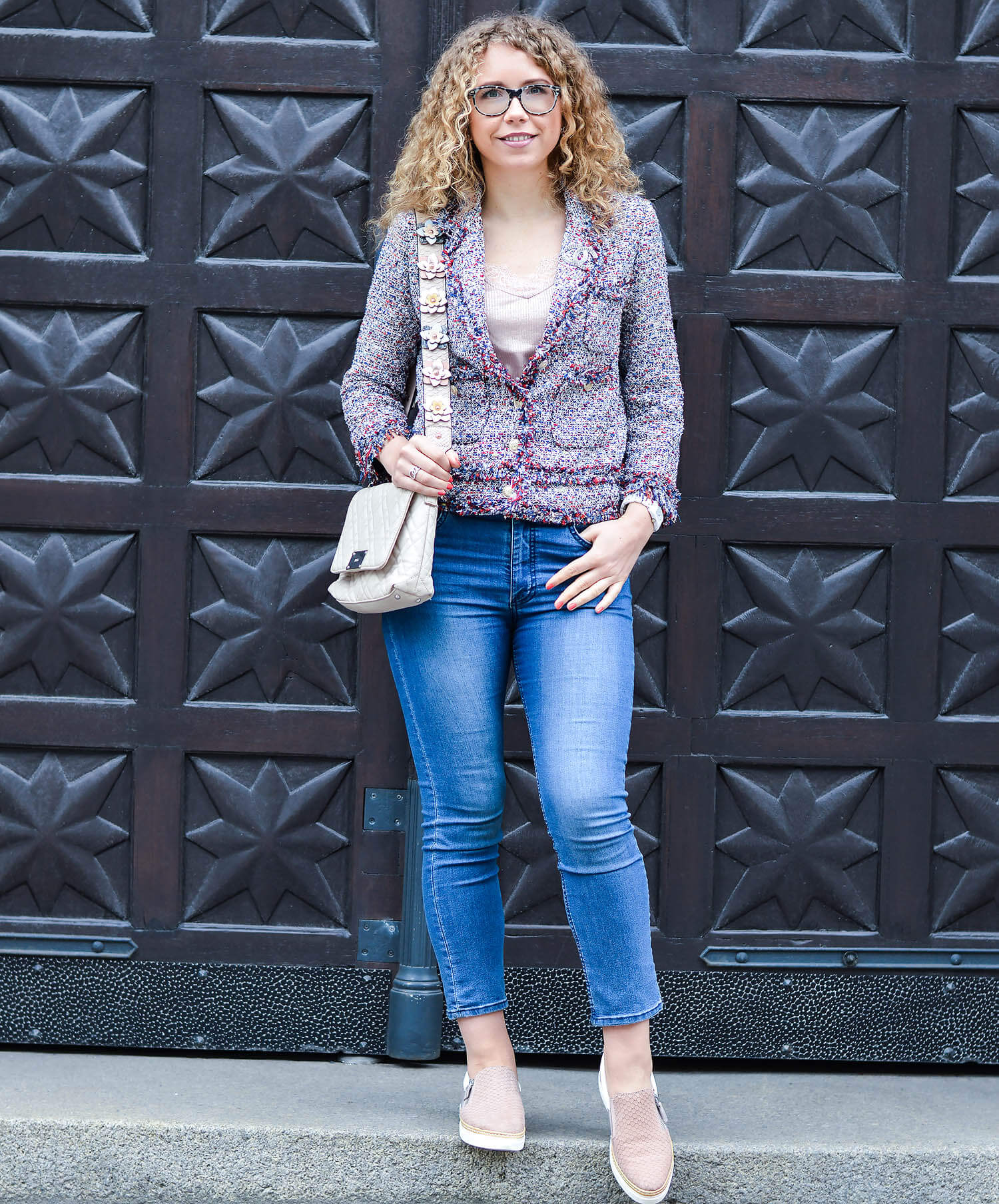 Kationette-fashionblog-nrw-Outfit-Zara-chanel-Tweed-Blazer-Hallhuber-Shoulder-Strap-streetstyle