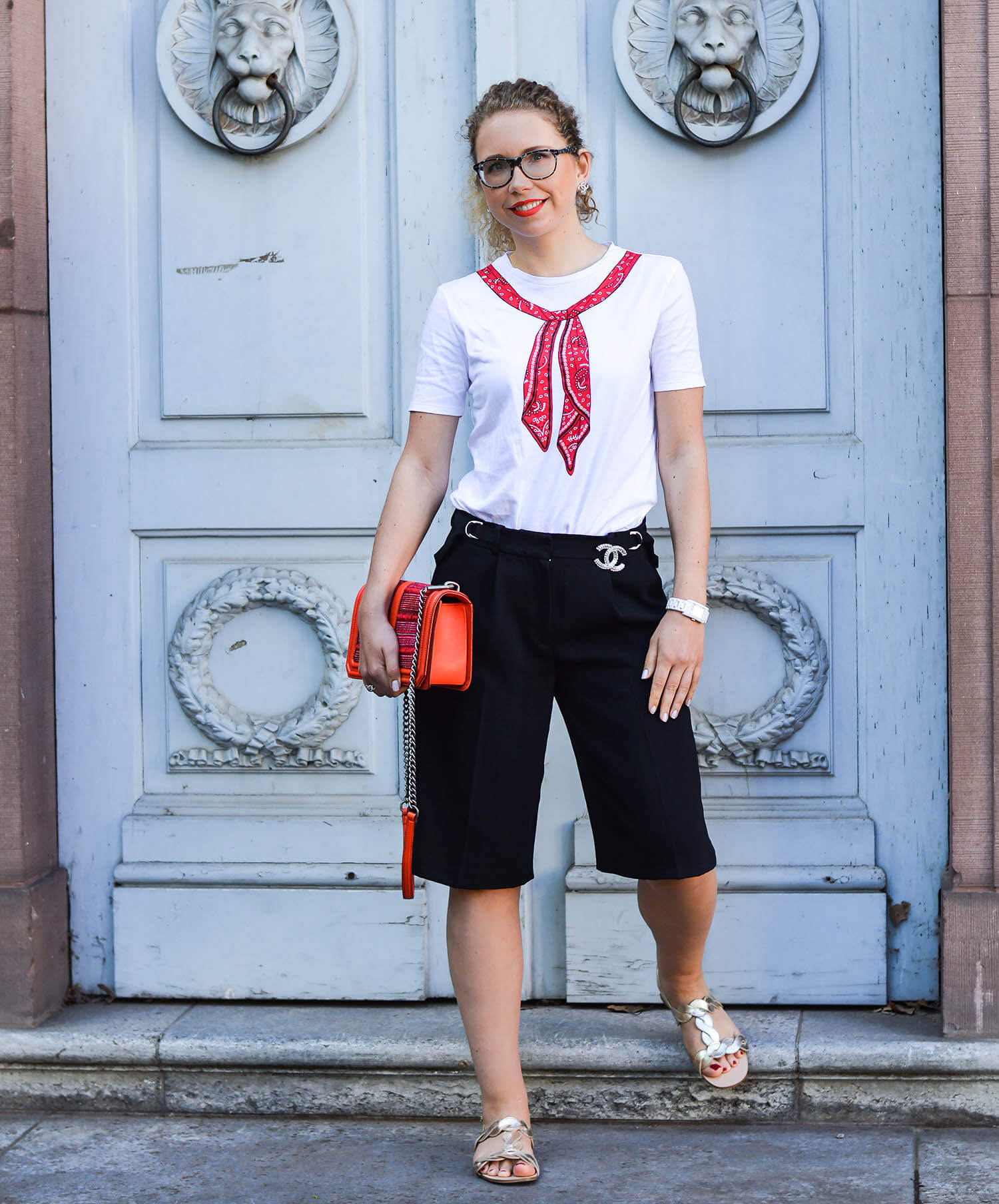 kationette-fashionblog-nrw-Outfit-Culottes-Bandana-Rebecca-Minkoff-Bag-Zara-Sandals