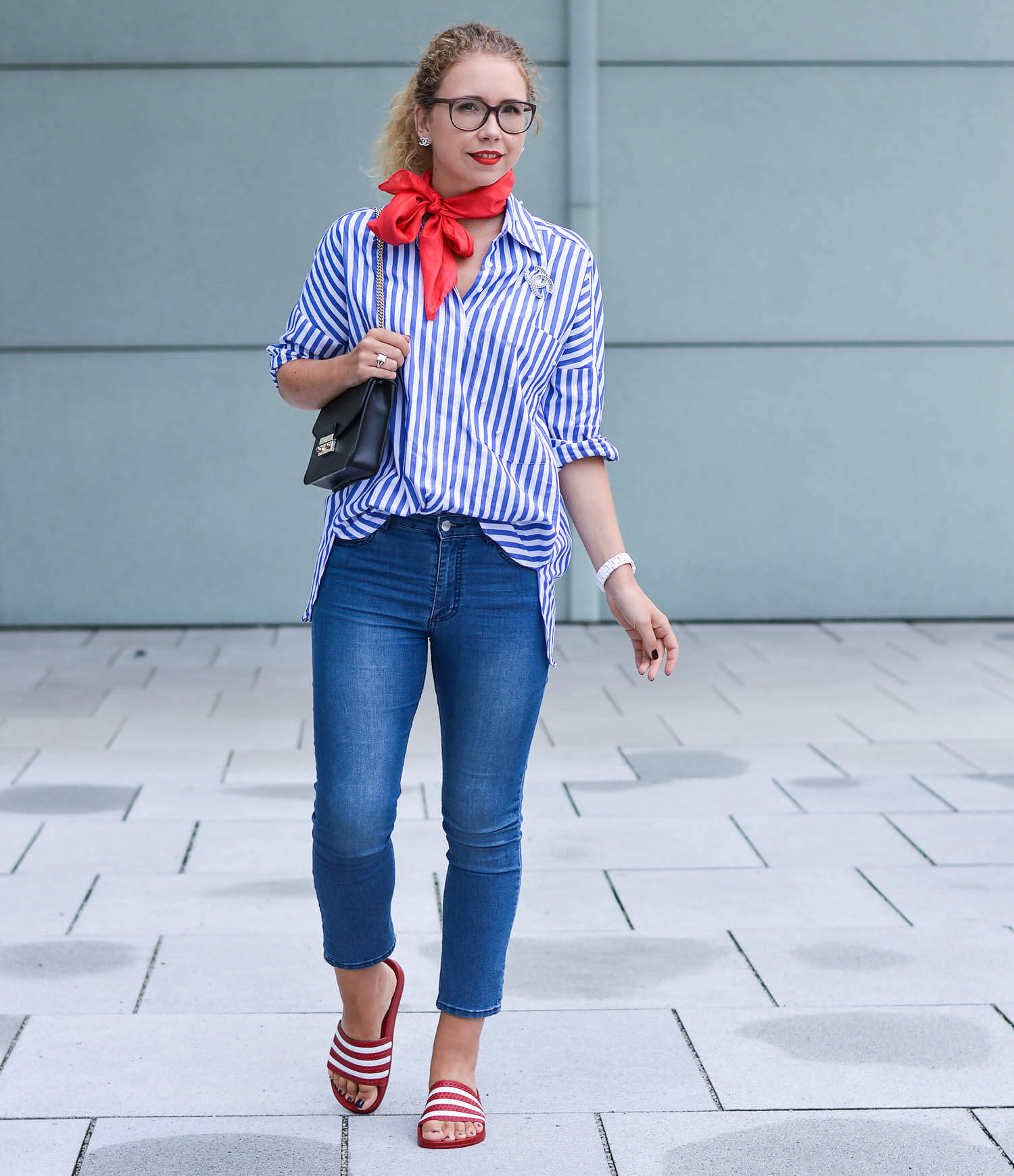 kationette-fashionblog-nrw-outfit-zara-Striped-blouse-Cropped-Jeans-Adiletten