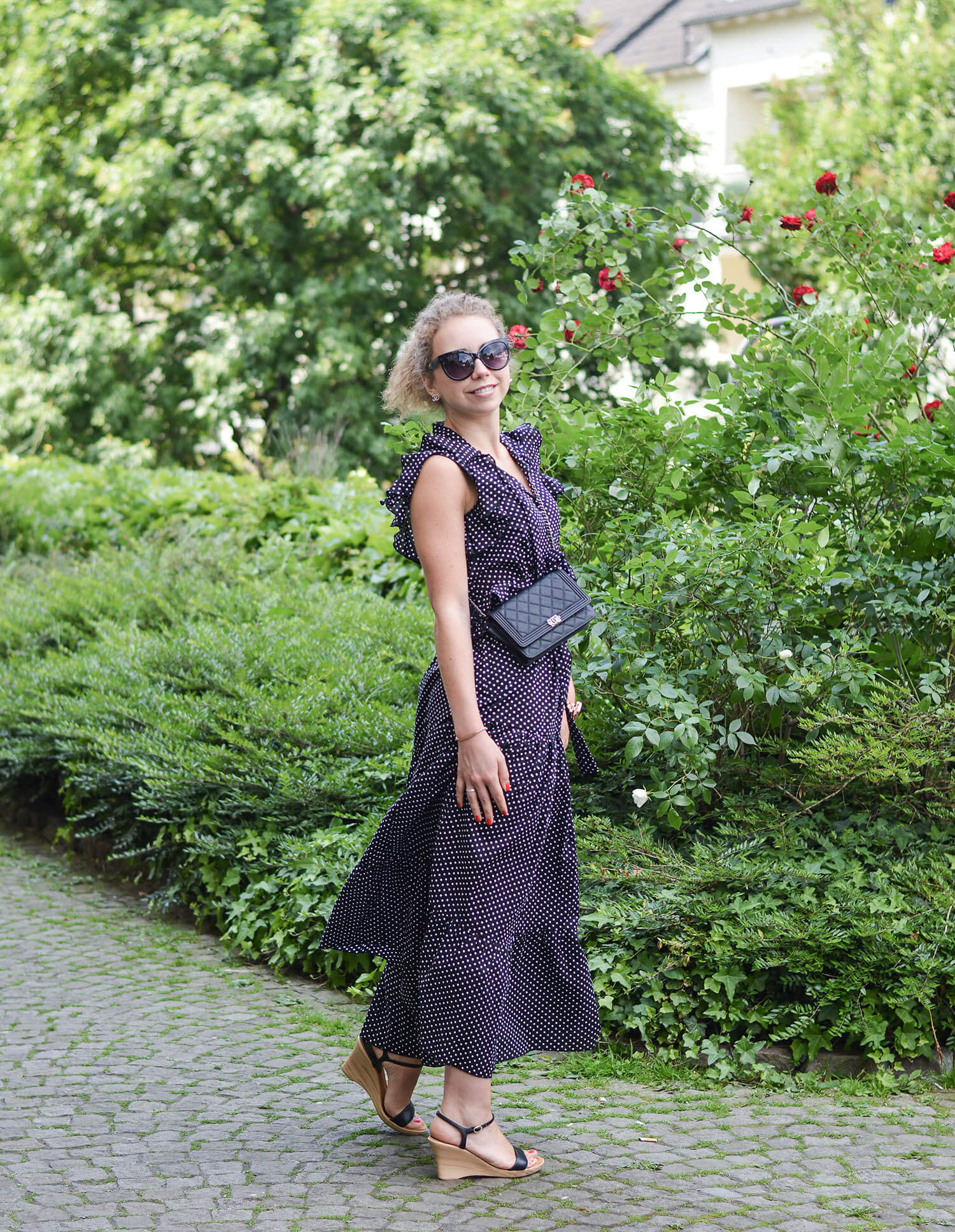 Polka-Dots-Maxidress-Summer-Outfit-Kationette-Fashionblogger-NRW