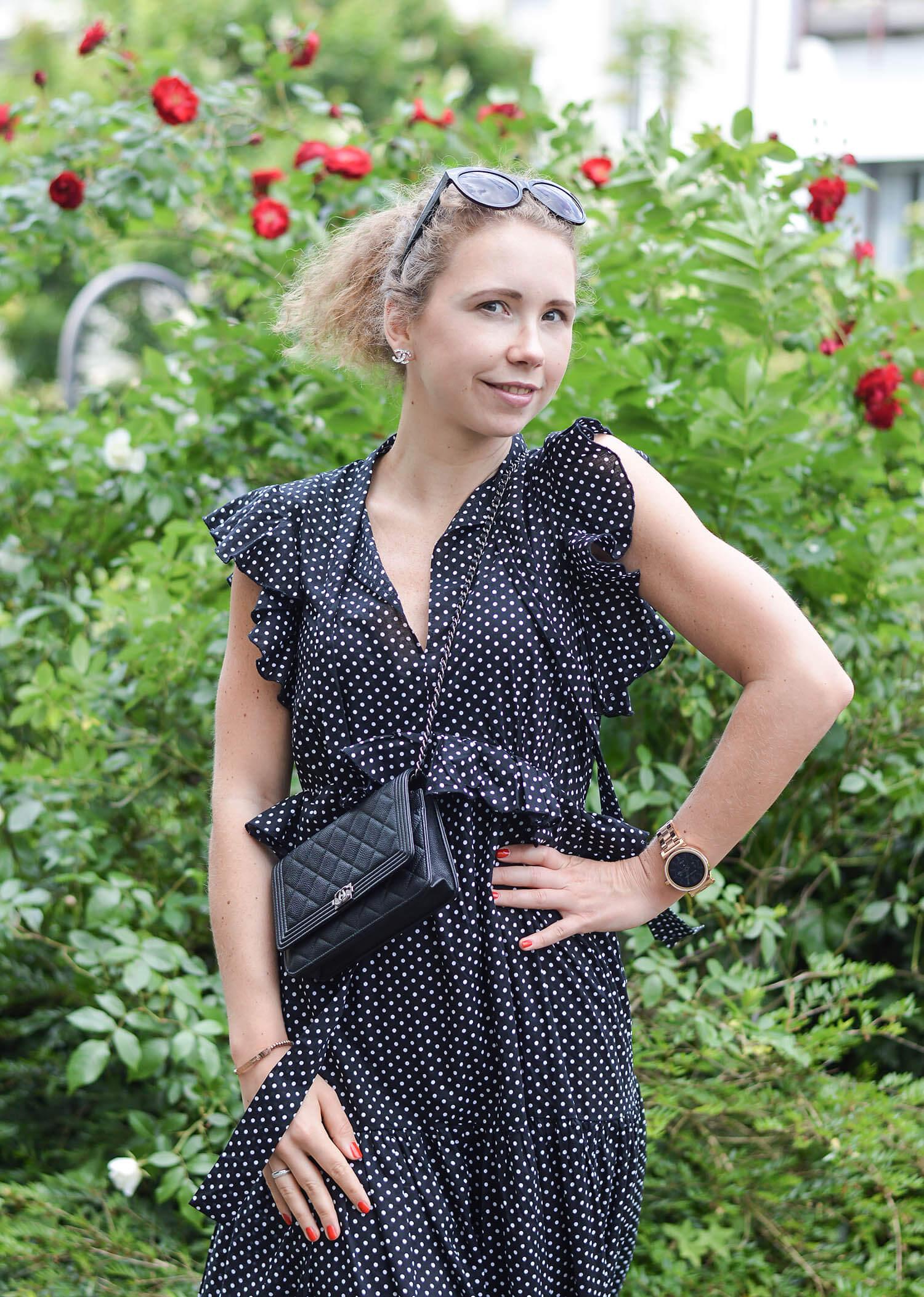 Polka-Dots-Maxidress-Summer-Outfit-Kationette-Fashionblogger-NRW