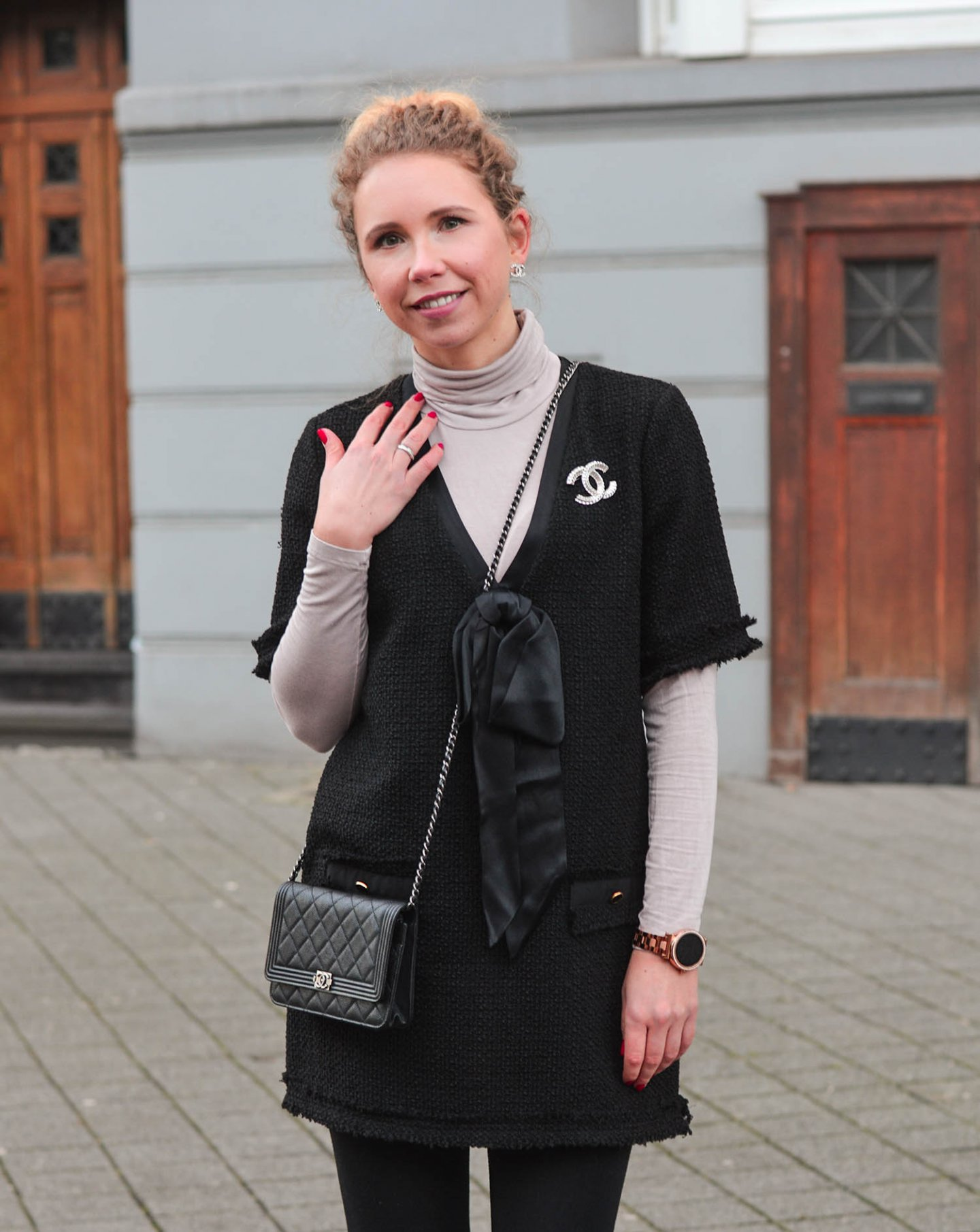 Tweed-Dress-Zara-Chanel-Accessoires-Kationette-Fashionblog-Germany
