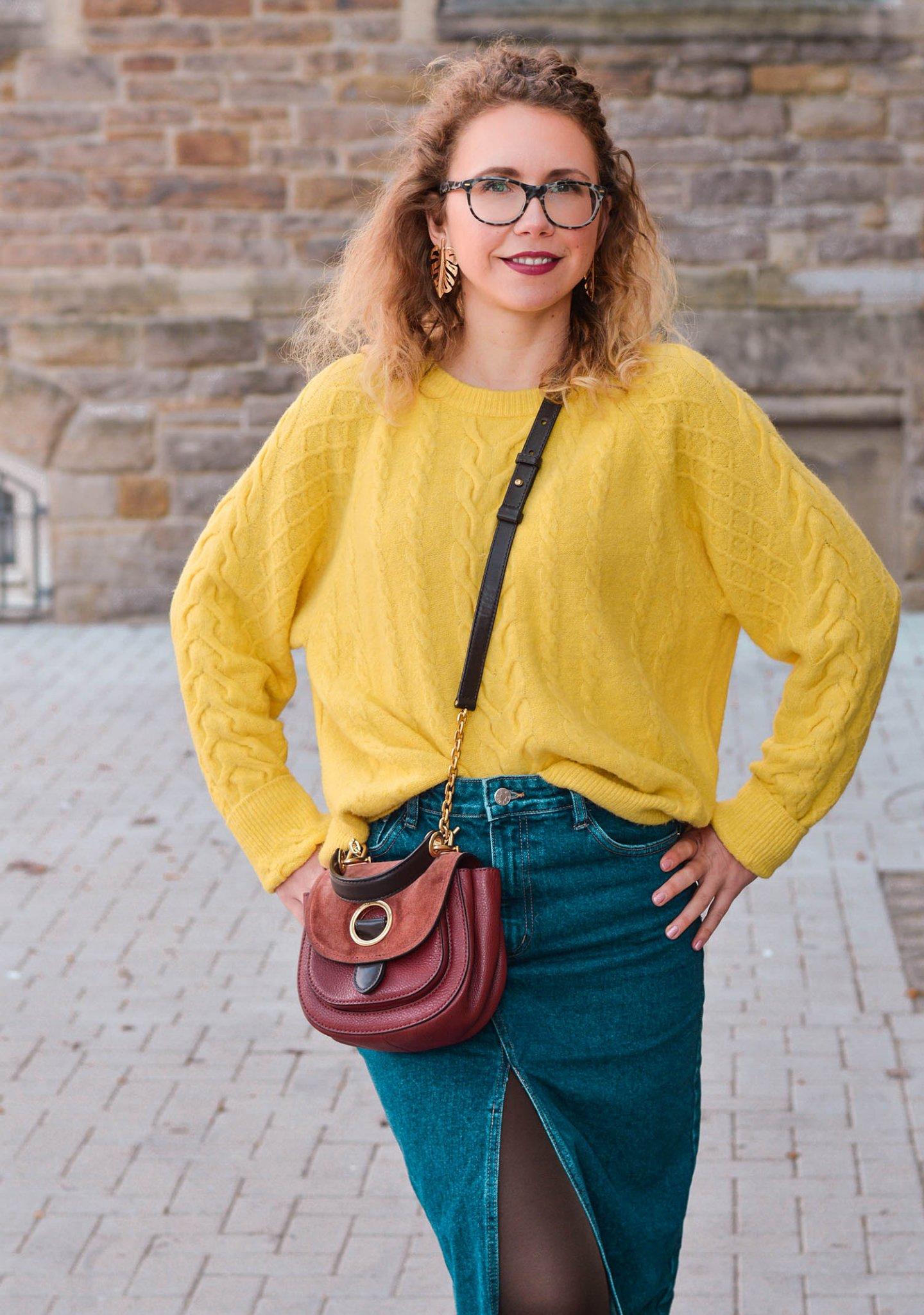 Frühlingsoutfit mit Trendfarbe gelb