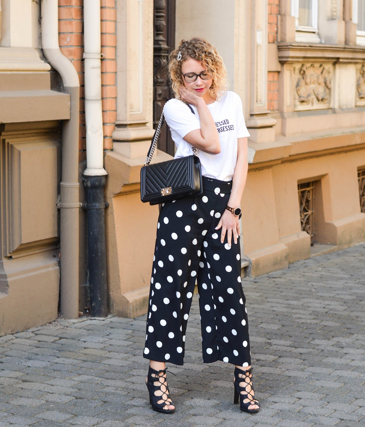 Sommeroutfit mit Chanel boy bag