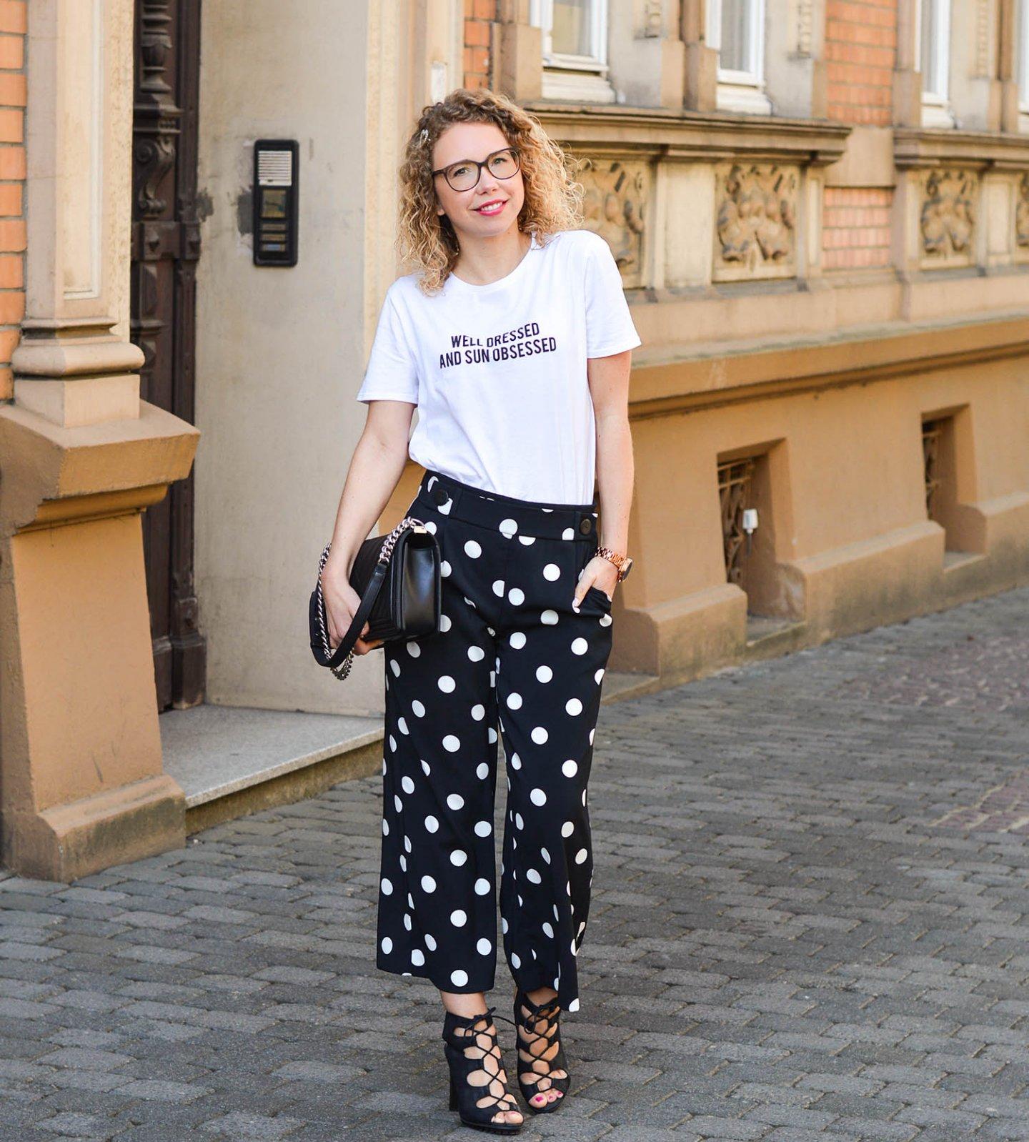 zara outfit in schwarz-weiß