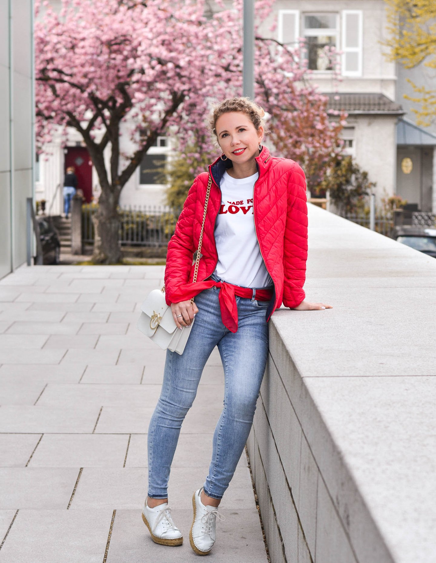 denim girl mit steppjacke