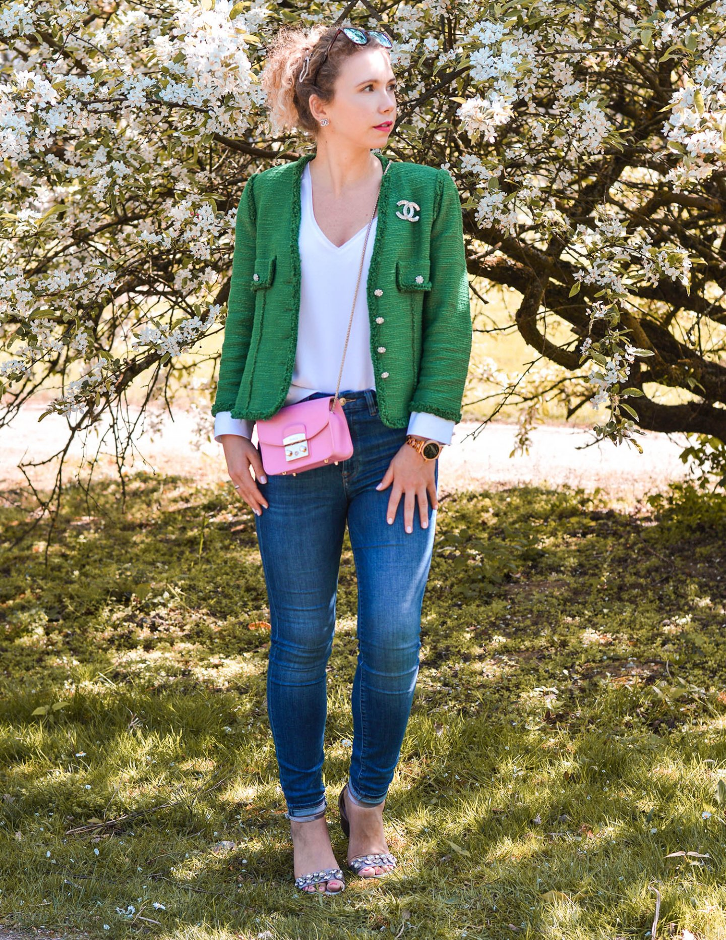 Frühlingsoutfit 2019 - farbige tweedjacken