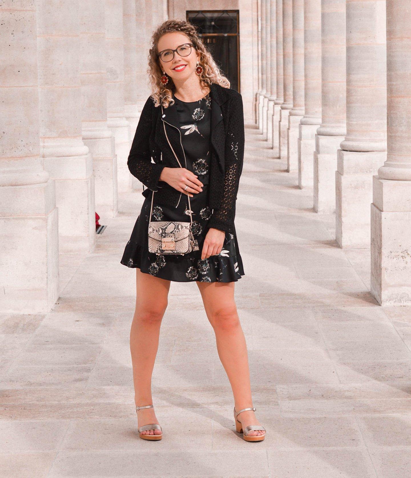 elegantes outfit in schwarz