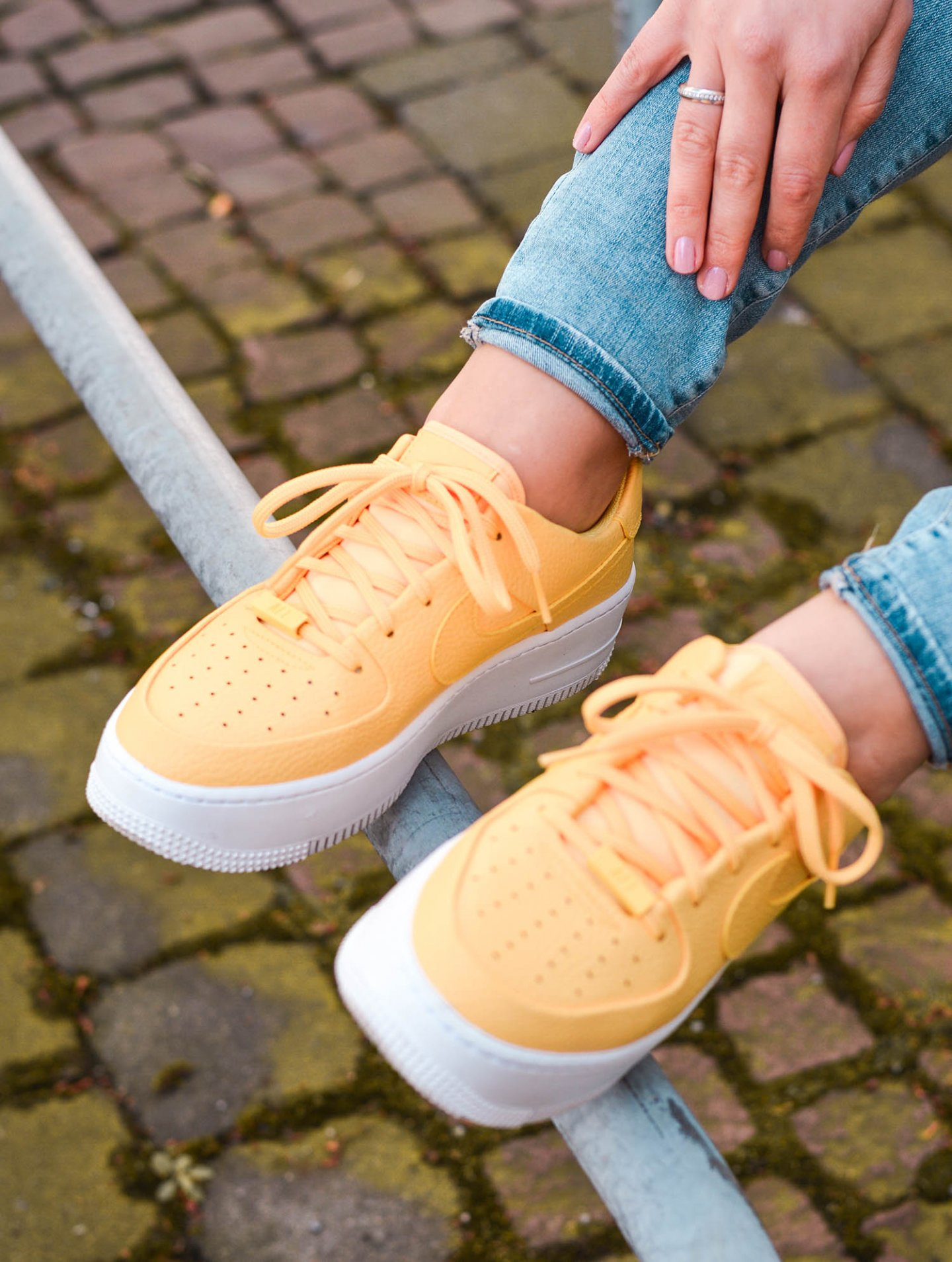 yellow nike Air Force 1