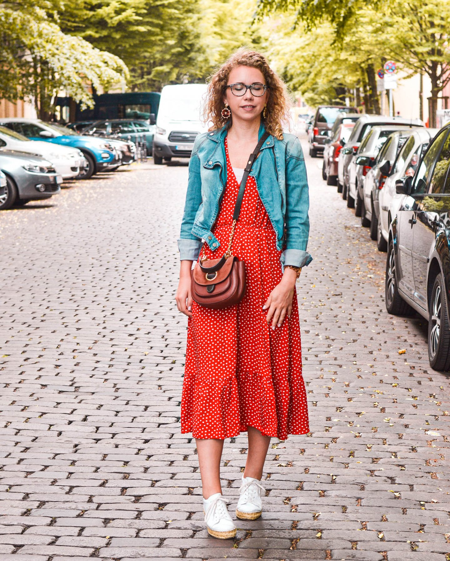 midikleid mit polka dots in Berlin