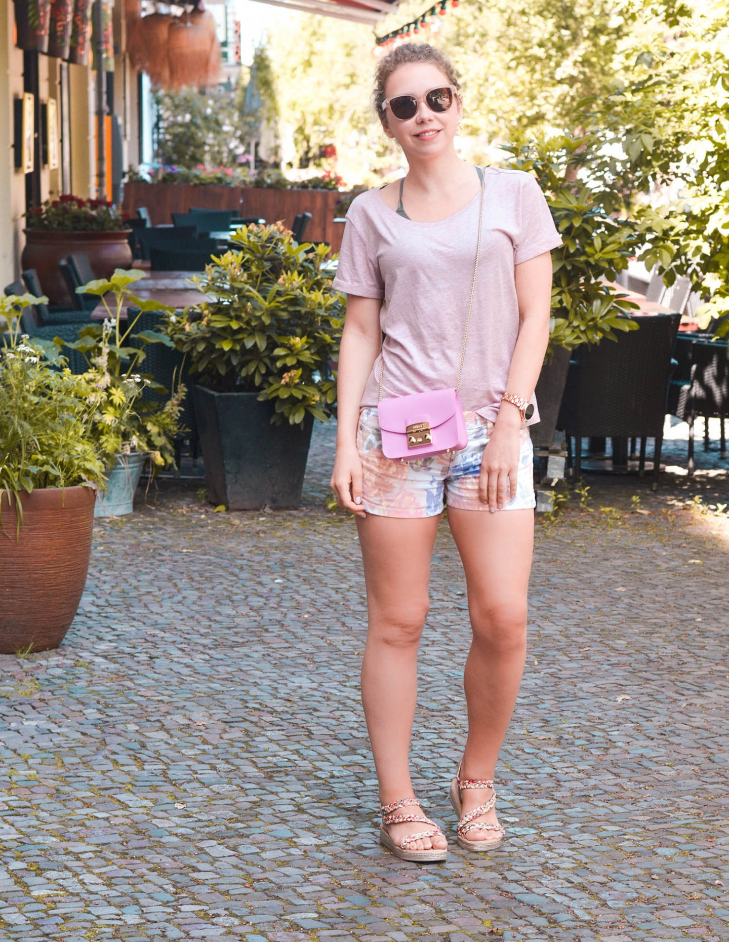 Sommerliche Kombi in Rosa