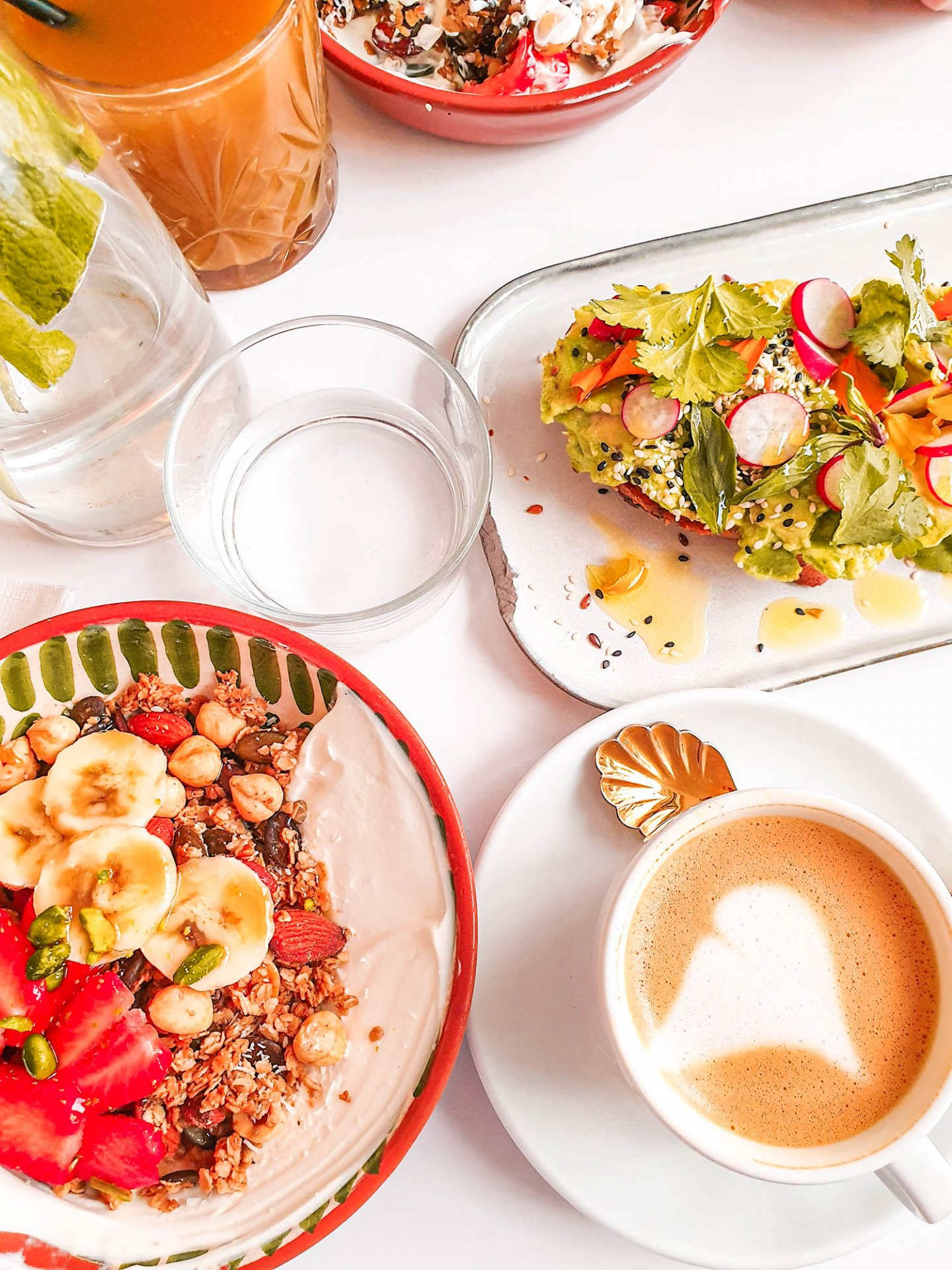 Granola und Avocado Toast im Café Berry Paris