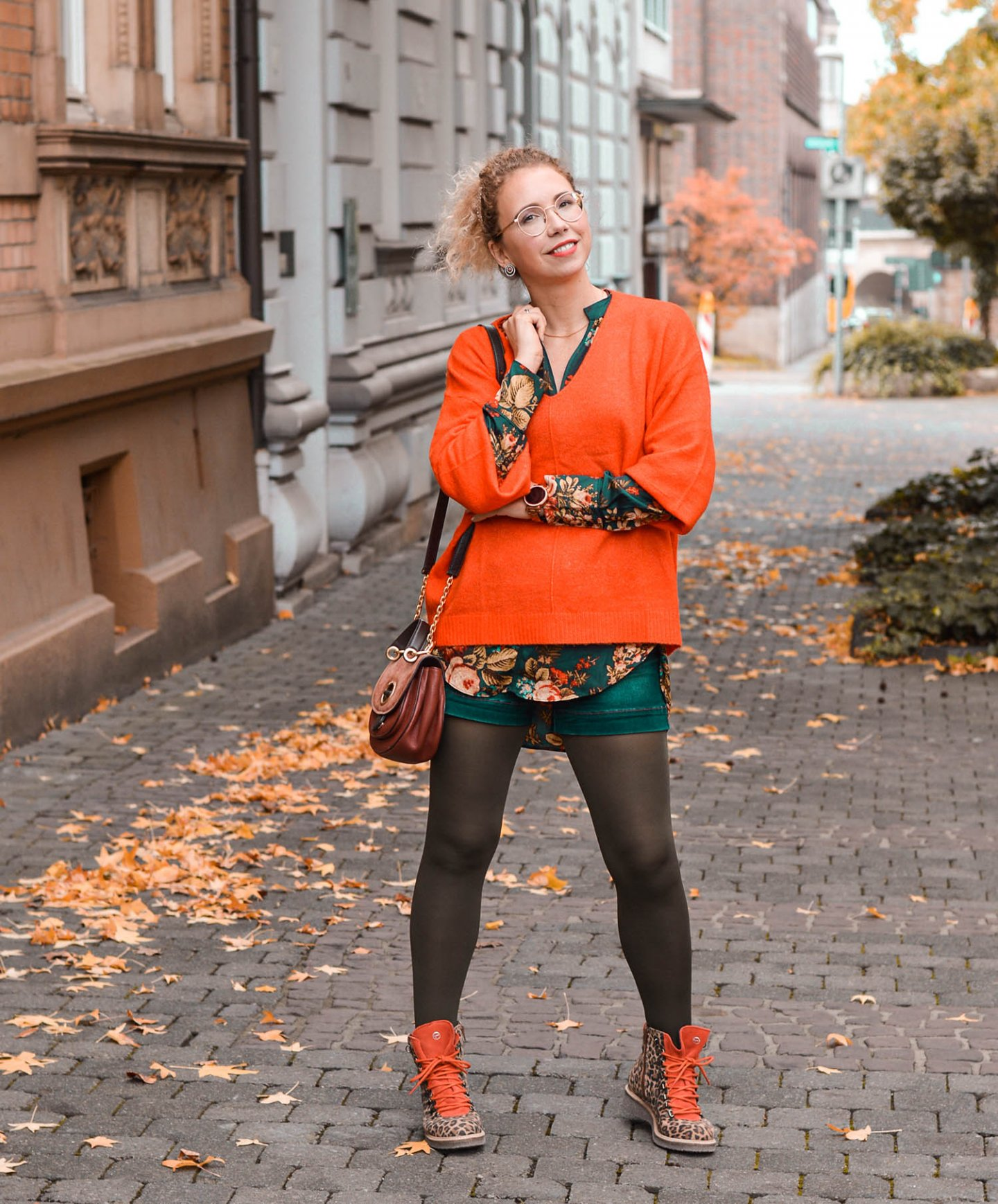 Herbstlicher Lagenlook und Mustermix